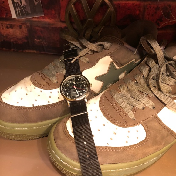 Bape Other - BAPESTA® — Gently used. Size 11. And watch combo c18fd9d84